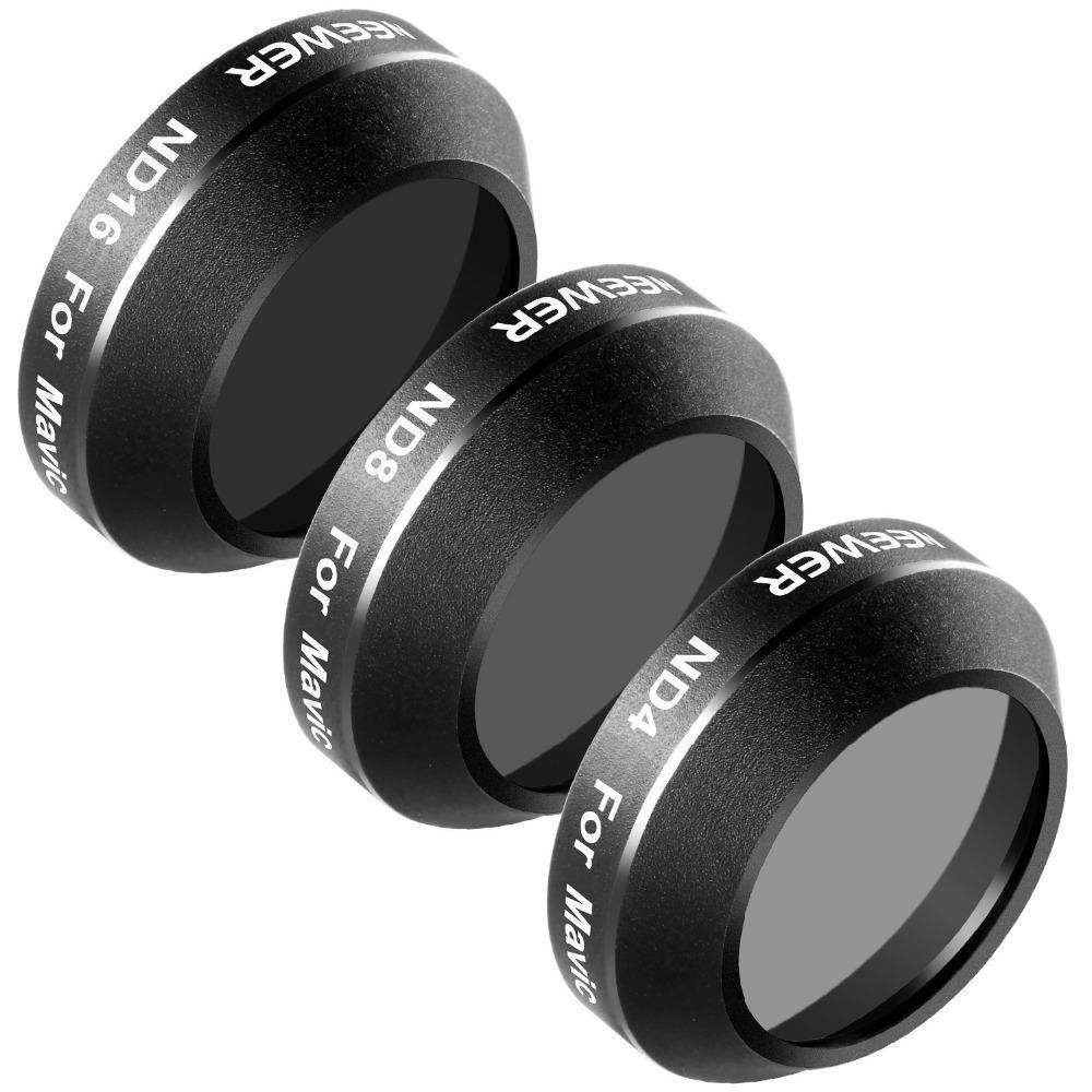 Black Aluminum Alloy Frame ND Filter Kit for DJI Mavic Pro (3 Pieces)