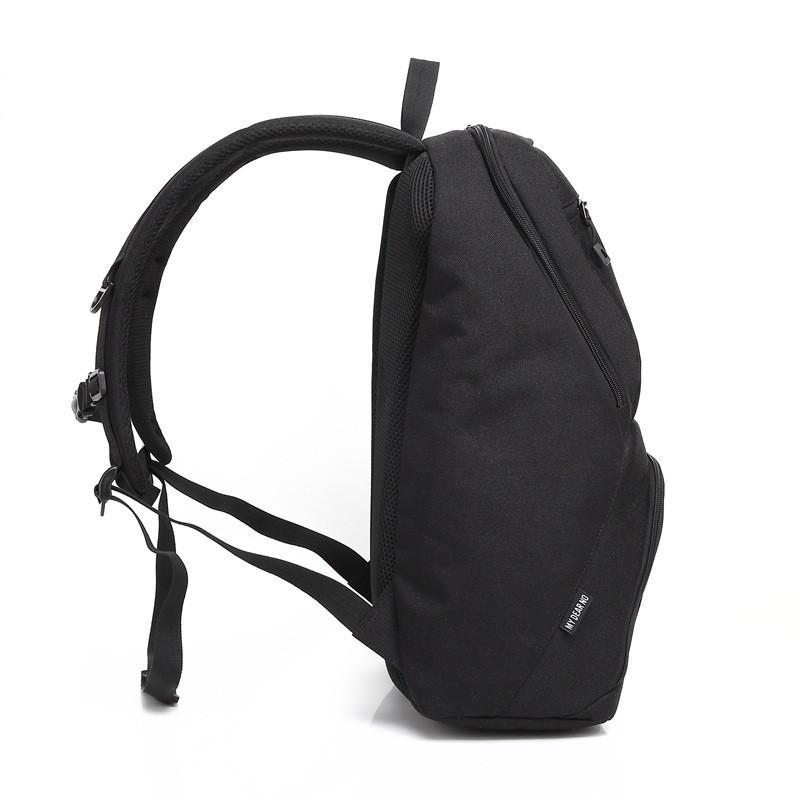 Black Waterproof Large Capacity Padded 2 in 1 Camera Backpack