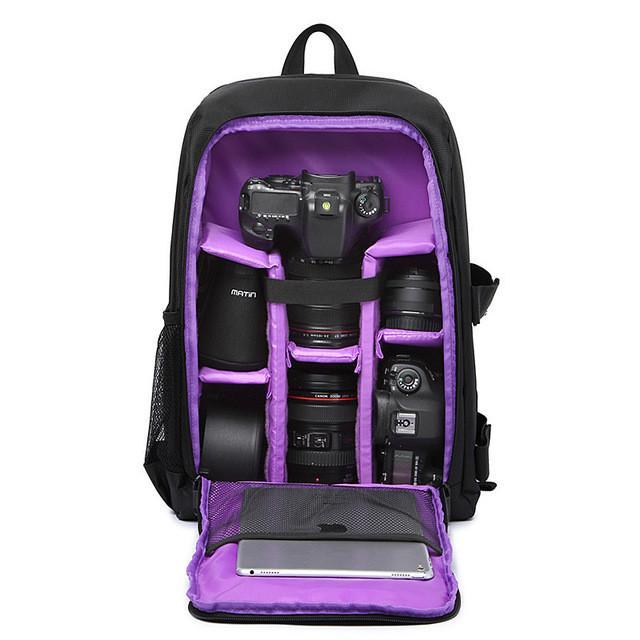 Multi-functional Waterproof w/ Rain Cover Padded Digital DSLR Camera Backpack