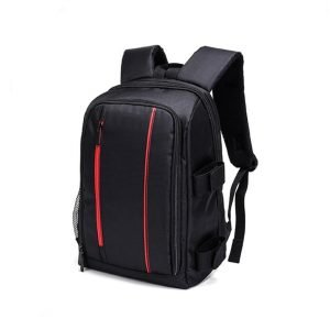 Black Large Capacity Photography Backpack