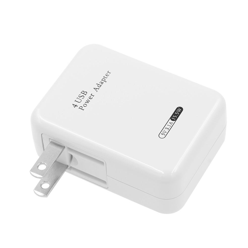 4 Ports USB 5V 3.1A EU/US Plug Adapter Charger
