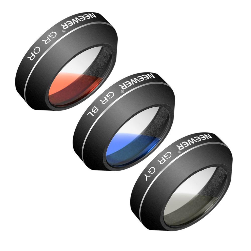 Aluminum Alloy and Resin Graduated Color Filter Set for DJI Mavic Pro (3 Pieces)