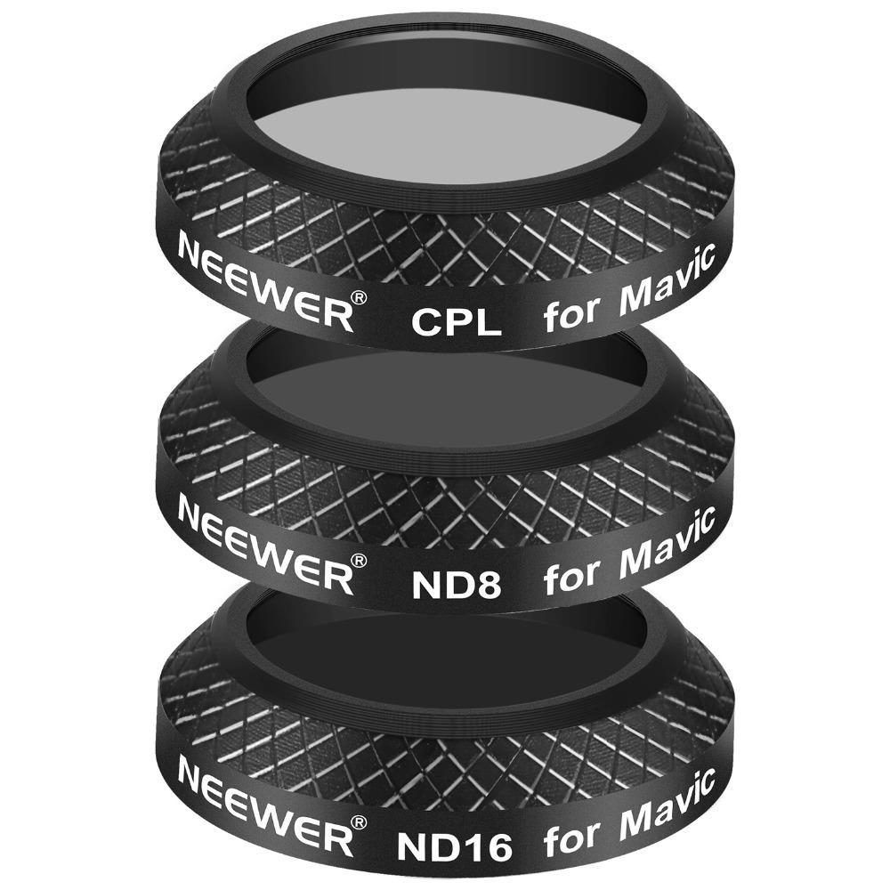 Black Multi Coated Filter Kit for DJI Mavic Pro (3 Pieces)