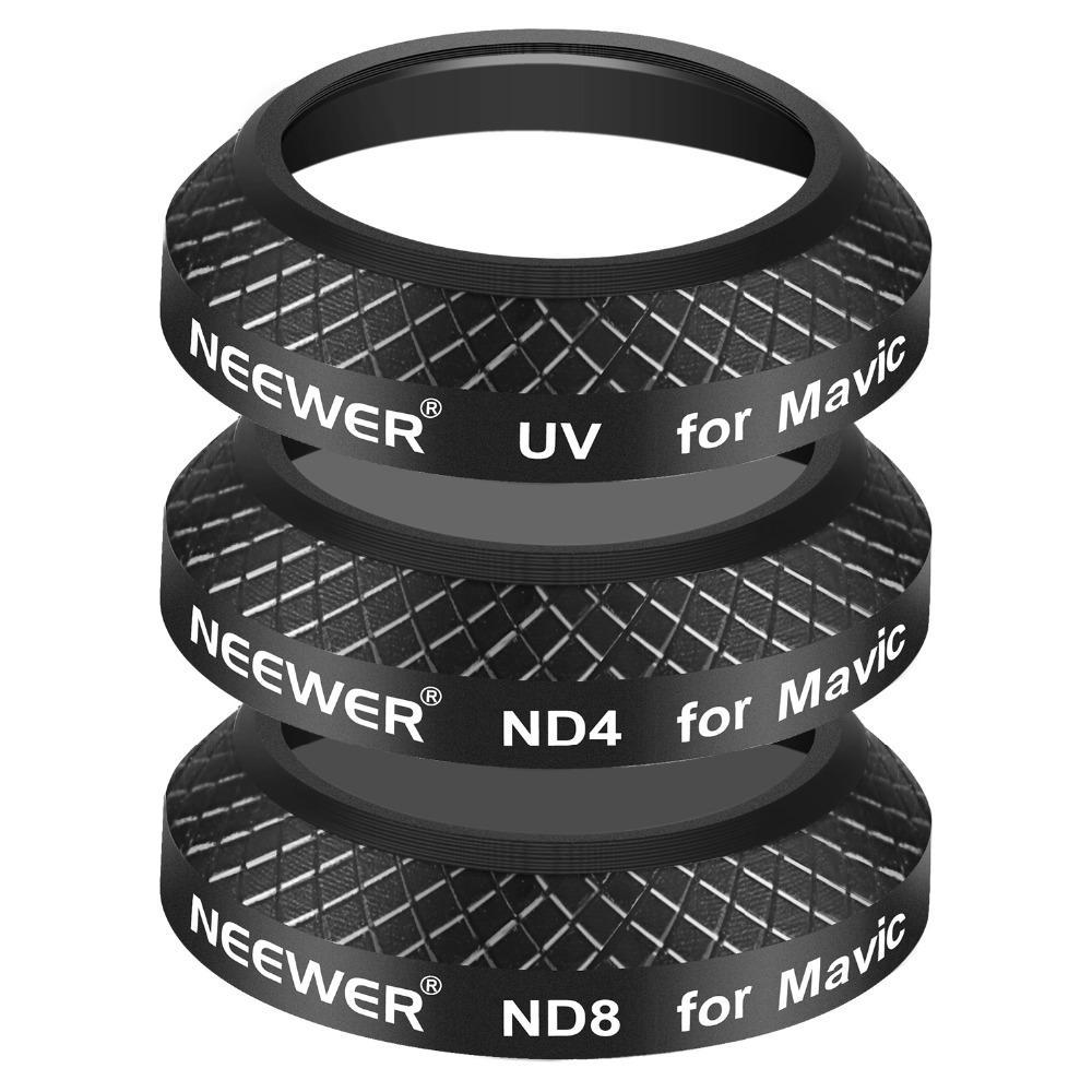 Black Multi Coated Mixed Filter Kit for DJI Mavic Pro (3 Pieces)