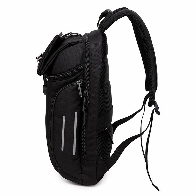 Black Anti-theft Password Lock Waterproof Rucksack Style Backpack