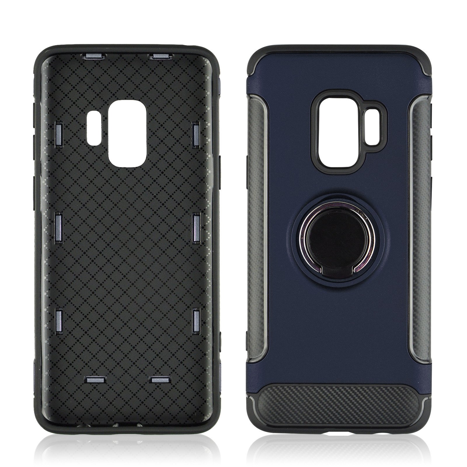Hard Shockproof 360 Rotate Ring Holder Phone Case for Samsung Galaxy S9 Plus Phones