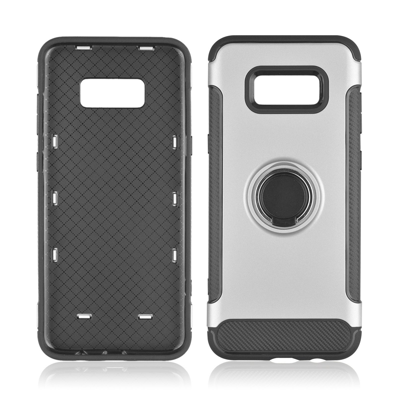 Hard PC Phone Cover 360 Rotate Ring Holder Phone Back Case Shockproof for Samsung Galaxy S8