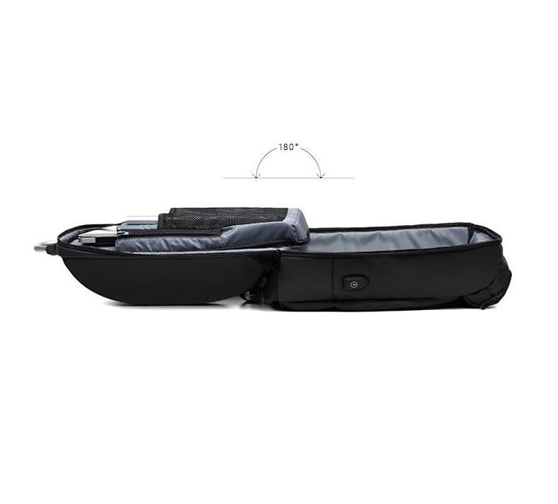 Black Waterproof Laptop Travel Backpack