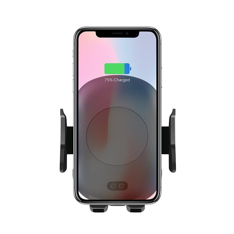 10W Automatic Induction Fast Wireless Car Charger & Holder For iPhone XS, XS MAX, XR, & Samsung S9