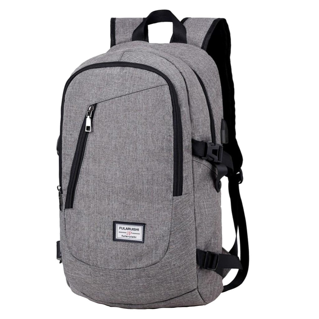 Heather Grey Travel Laptop Backpack