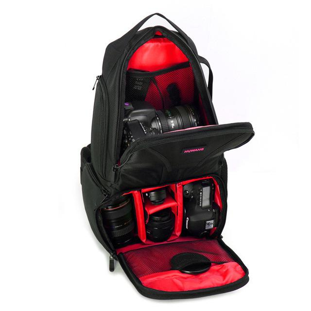 Waterproof Nylon Sling Flipside DSLR Camera Messenger Backpack