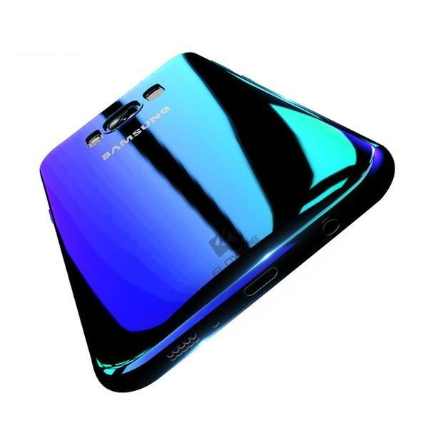 Aurora Blue Ray Ultra Thin PC Cover Phone Case For Samsung Galaxy Phones