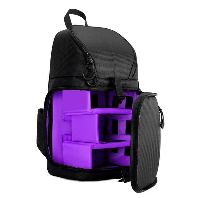 Waterproof DSLR Sling Bag Shoulder Cross Case w/ Rain Cover