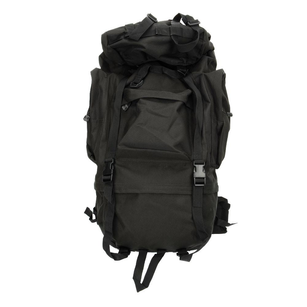 65L Black Waterproof Outdoor Tactical Backpack
