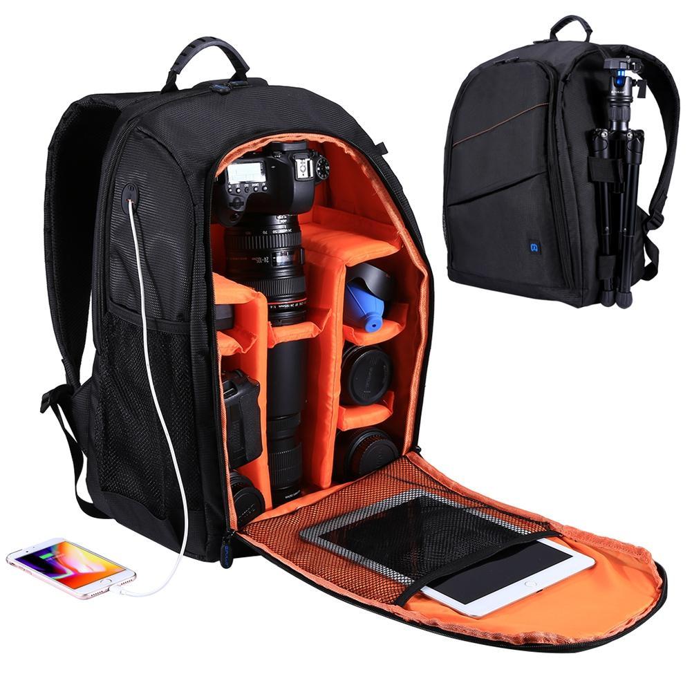 Durable Breathable Water-resistant Tablet + Camera DSLR Travel Backpack