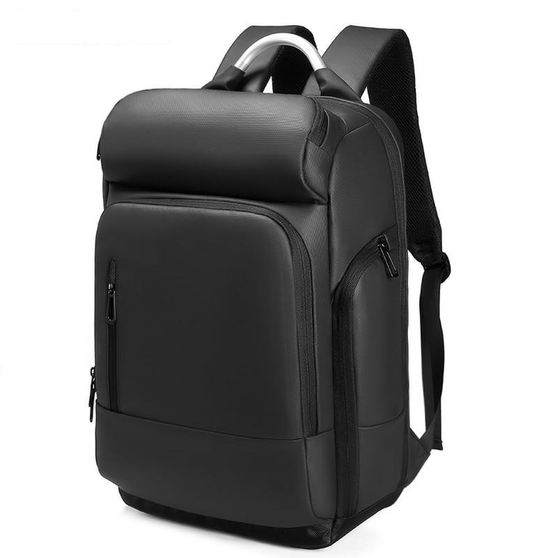 Black Waterproof Laptop Travel Backpack