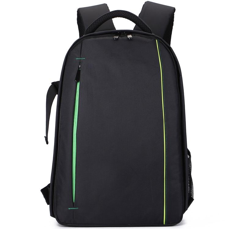 Black Waterproof Nylon Camera Backpack